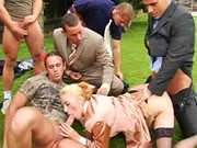 Outdoor orgy action