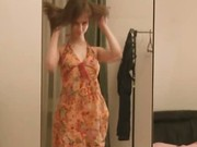 Horny solo masturbation before mirrors