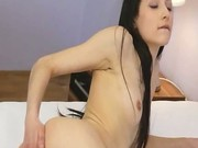 Black stockings and women pussy rubbing