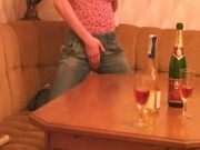 Drunk slovak teen rubbing one out