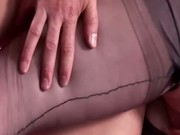 Mature stockings seduction fucking