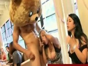 Hot cfnm cock sucking party
