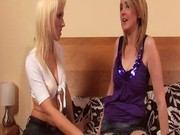 Two horny and slutty babes having fun