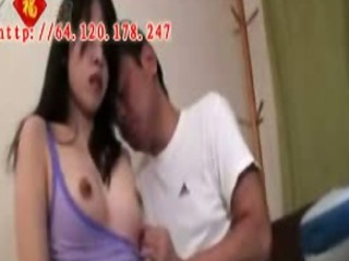 Young asian teen gets banged by older man