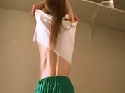 Pioneer girl stripping naked german