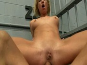 Toes enter her wet holes
