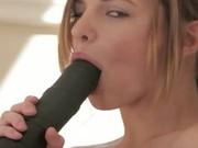 Ultra big black dildo in my tight vagina