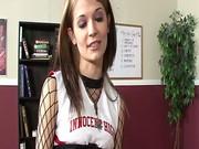 InnocentHigh Young skinny cheerleader Sensi Pearl fucks teacher