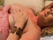 Big nasty granny in brutal threesome