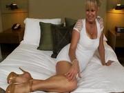 Sexy blonde milf fucking in hotel