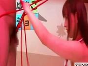 Japan CFNM penis play and kinky bondage by Yukiko Suo