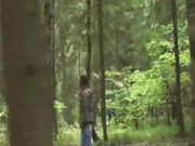 Public sucking dick in the forest