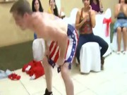 Cfnm party amateur sluts enjoy male stripper oral