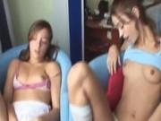 Duo lesbians duo toying vaginas