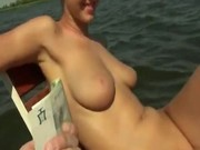 Shameless amateur girl paid for a nice boat ride banging