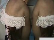Cute schoolgirls wearing sexy miniskirts