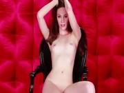 Nice brunet girl in mask do striptease