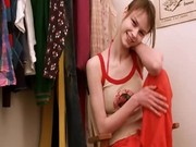 Beata teen stripping in dressing room
