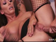 Slutty big-tit MILF Alia Janine begs for her step-sons big dick