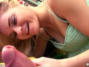 Blonde teen with a sexy face gives up her anal virginity on came