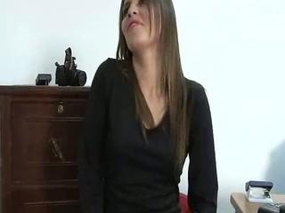 Horny latina Esmeralda Duarte getting her shaved latin pussy fuc