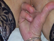 Fingering with squirt