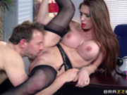 Sexy secretary Veronica Vain will do anything for her boss