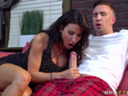 Ruthless landlady Lezley Zen gets rent paid in cock