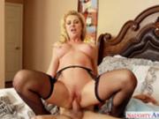 Blonde milf Sasha Sean rides on Tyler Nixon in Seduced by a Cougar