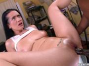 Katrina Jade spreads her legs for big black dick
