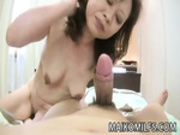 Akemi Seo - Japanese Granny Riding On A Young Cock