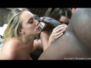 AJ Applegate and Brooklyn Chase share a big black cock