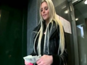 Amateur blonde babe nailed and creamed for good money