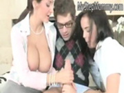 Big tits teacher Ava Addams and Dillion Harper jizzed on