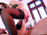 Nurse Anna Polina squirts all over Keiran Lee
