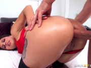 Jynx Maze takes hard cock in her ass for Valentine's Day
