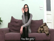 Female babe copulating with fake agent