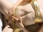 Super angular girl fingering her snatch