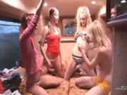 Girly fantasies in special porn bus -4