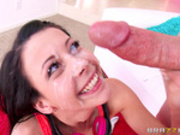 Teen Alaina Kristar fucked and facialized by her step dad