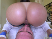 Plumpy ass Julianna Vega sits on face