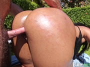 Chunky butt latina Ava Sanchez pounded outdoor