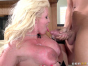 Mother in law Alura Jenson takes cumshots on her huge tits