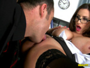Sensual Jane getting her pussy licked in the office