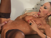 Blonde milf Tanya Tate gets sprayed with young doctor's cum