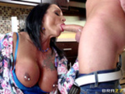 Hot mom Ashton Blake sucks daughter's boyfriend's dick