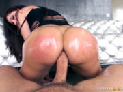 Aleksa Nicole rides her oiled ass on that big dick