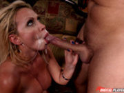 Nikki Benz hard fucked and messy facial