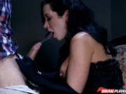 Jayden Jaymes gives a sloppy blowjob