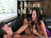 Ariella sucks her sons friends dick